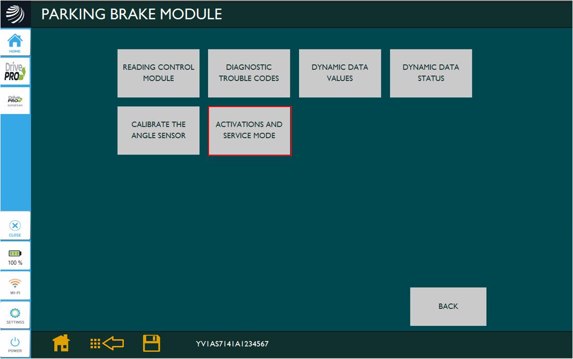 Electronic Parking Brake Fault (Volvo)